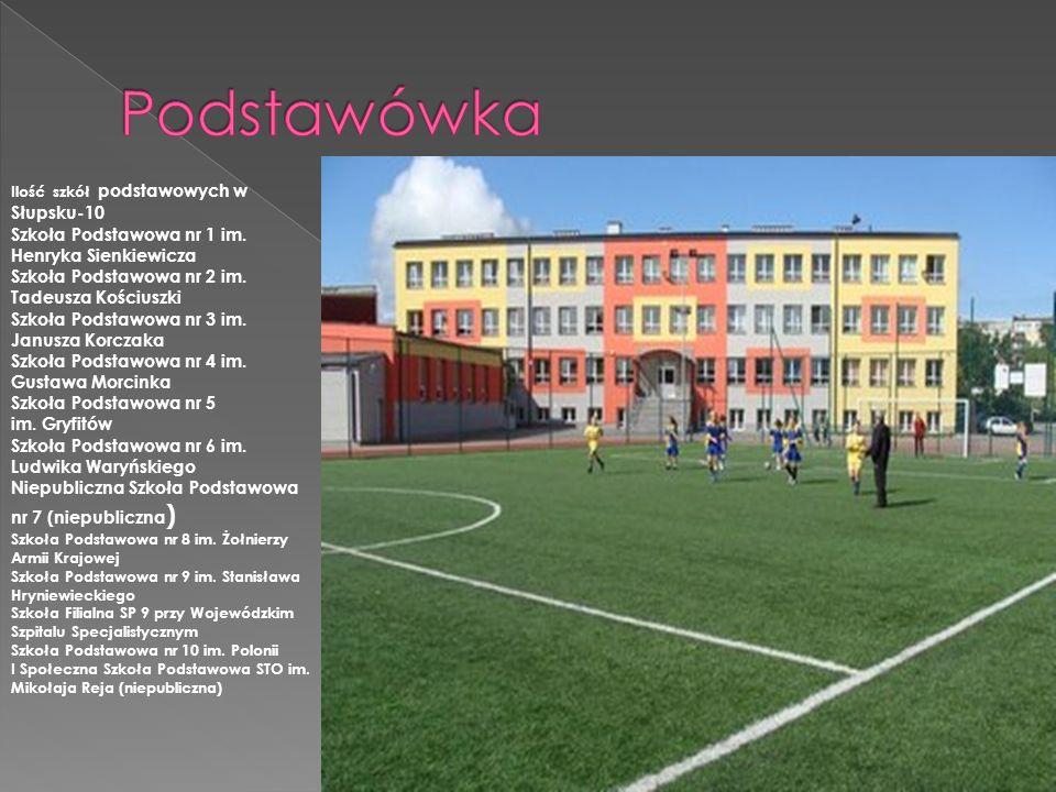 Ilość szkół podstawowych w Słupsku-10 Szkoła Podstawowa nr 1 im. Henryka Sienkiewicza Szkoła Podstawowa nr 2 im. Tadeusza Kościuszki Szkoła Podstawowa