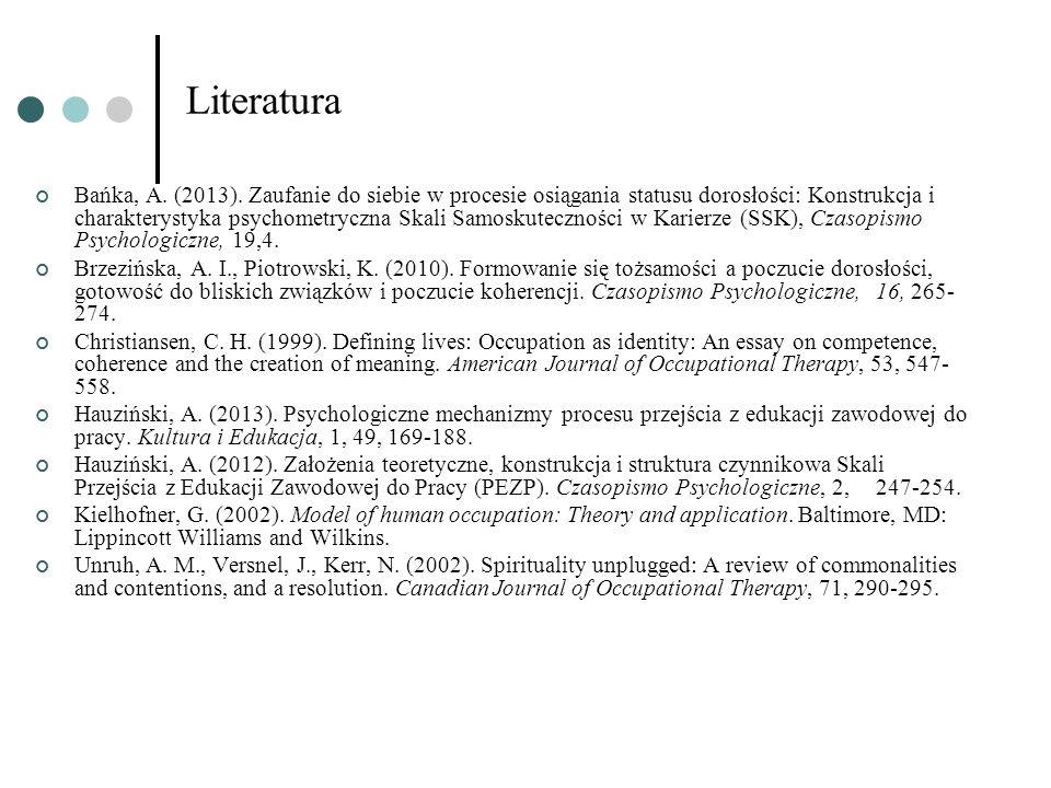 Literatura Bańka, A. (2013).