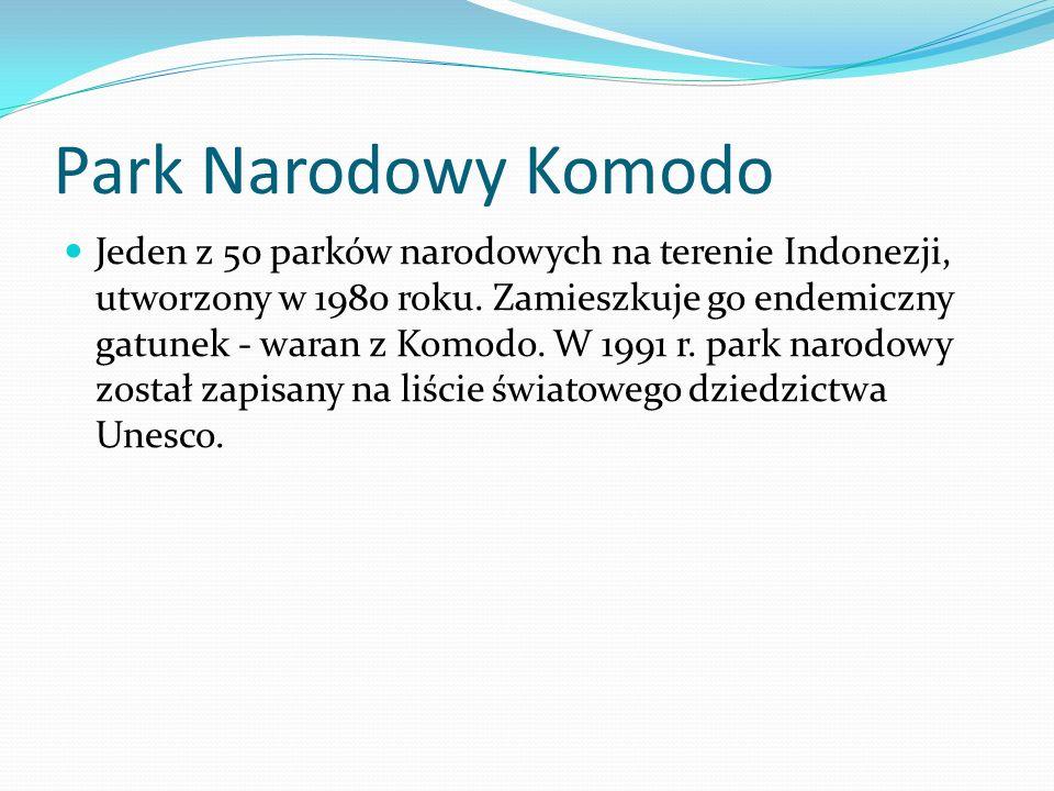 Park Narodowy Komodo Jeden z 50 parków narodowych na terenie Indonezji, utworzony w 1980 roku.