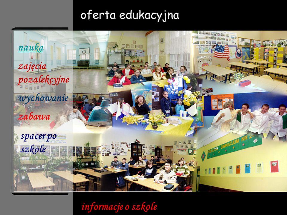 Promocja zdrowia Edukacja rówieśnicza, wolontariat, przedsiębiorczość Szkoła z klasą Regionalizm i zjednoczona Europa Bezpieczna szkoła