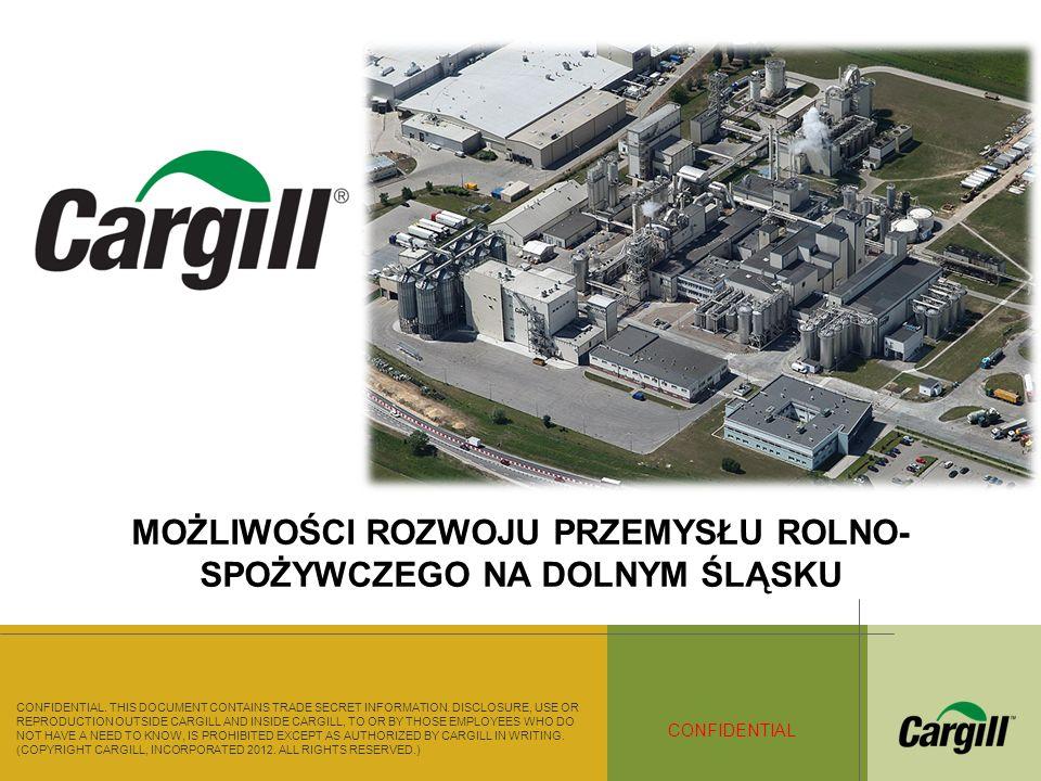 © 2012 Cargill Incorporated..All rights reserved CARGILL CONFIDENTIAL 1900 Firma zatrudnia ok.
