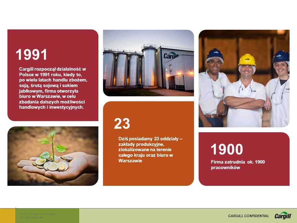 © 2012 Cargill Incorporated..