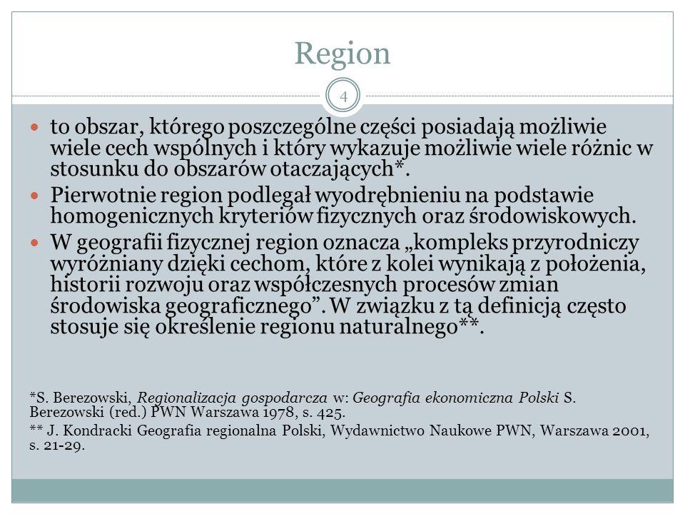 Region w aspekcie międzynarodowym Region to powszechne określenie dla formy współpracy międzynarodowej, gdzie region stanowi obszar łączący państwa lub ich części we wspólnym celu.