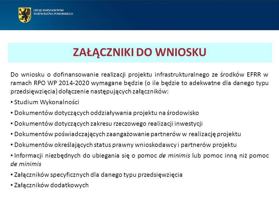 STUDIUM WYKONALNOŚCI Instytucja Zarządzająca RPO WP 2014-2020 rekomenduje sporządzenie studium wykonalności zgodnie z opracowanymi przez nią wytycznymi dotyczącymi przygotowania ww.