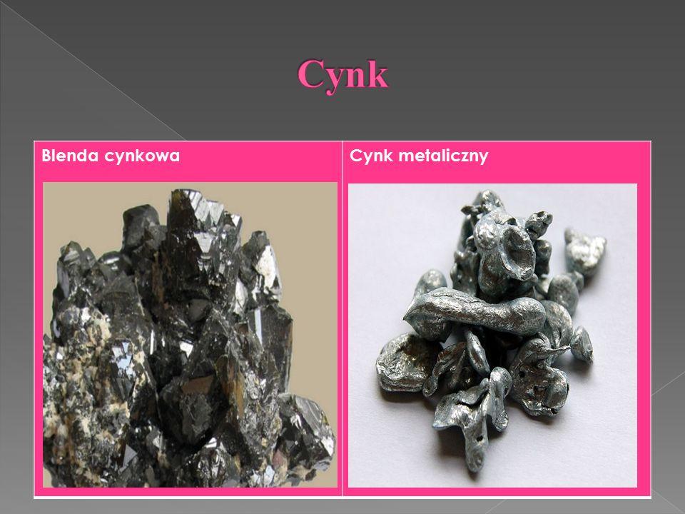 Blenda cynkowaCynk metaliczny