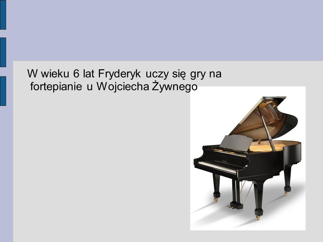 Cudowne dziecko W wieku 7 lat skomponował pierwszy utwór, był to Polonez g-moll
