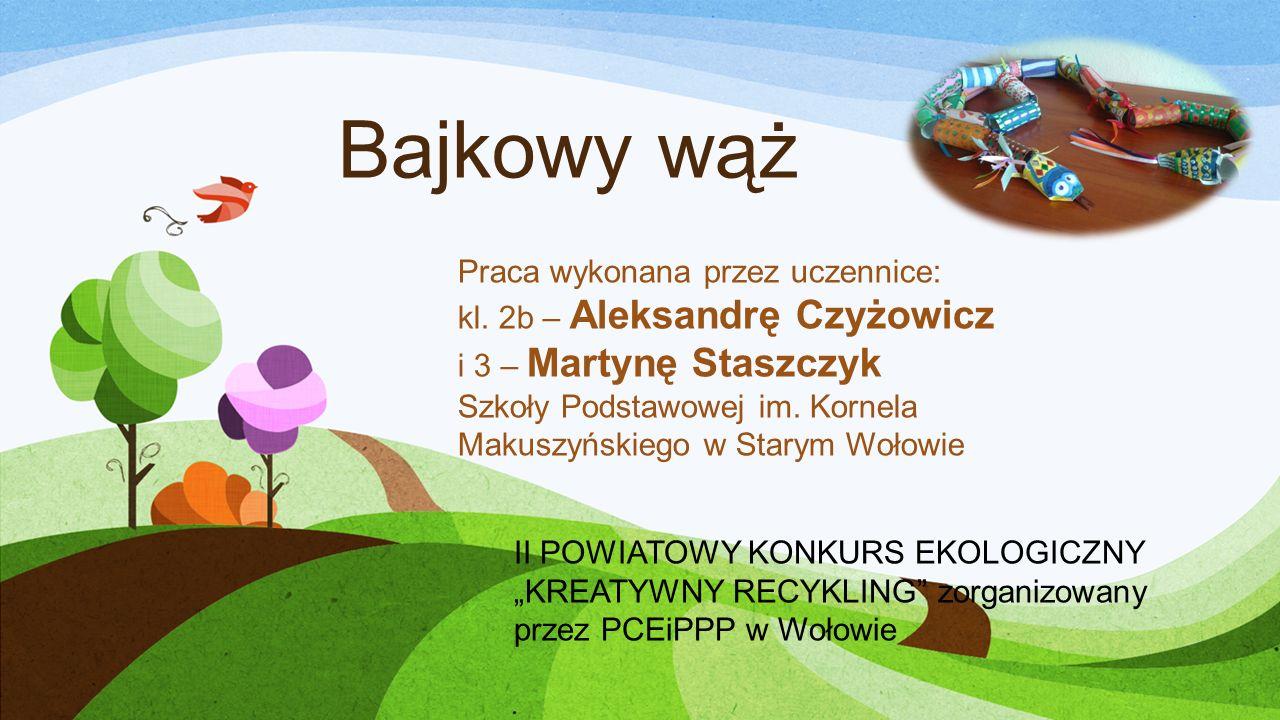 Bajkowy wąż Praca wykonana przez uczennice: kl.