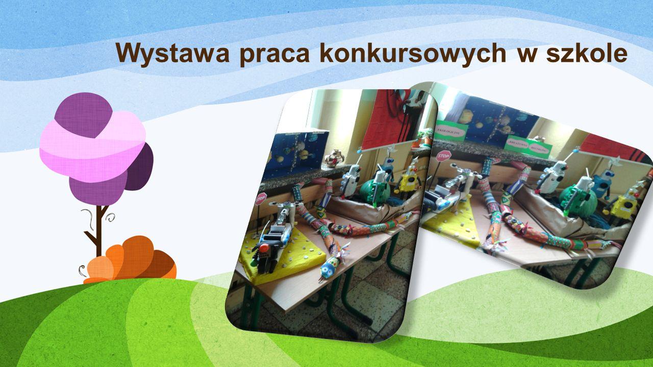 Wystawa praca konkursowych w szkole