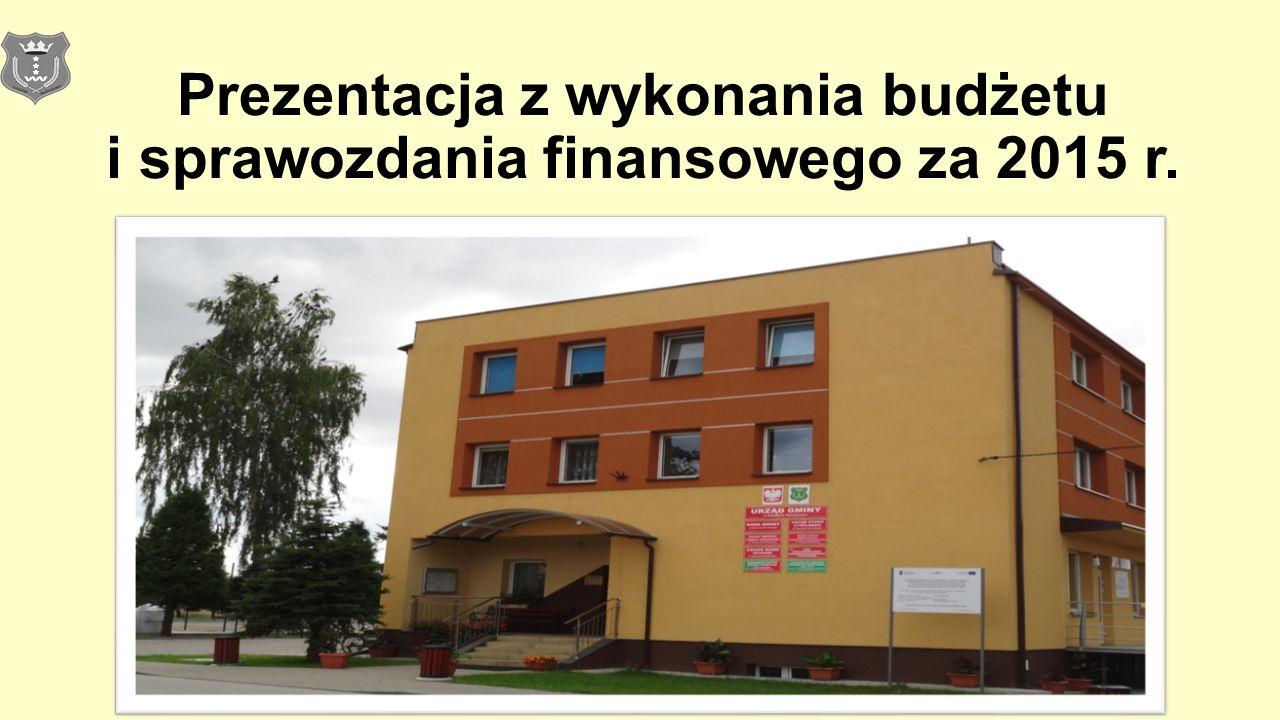 Prezentacja z wykonania budżetu i sprawozdania finansowego za 2015 r.