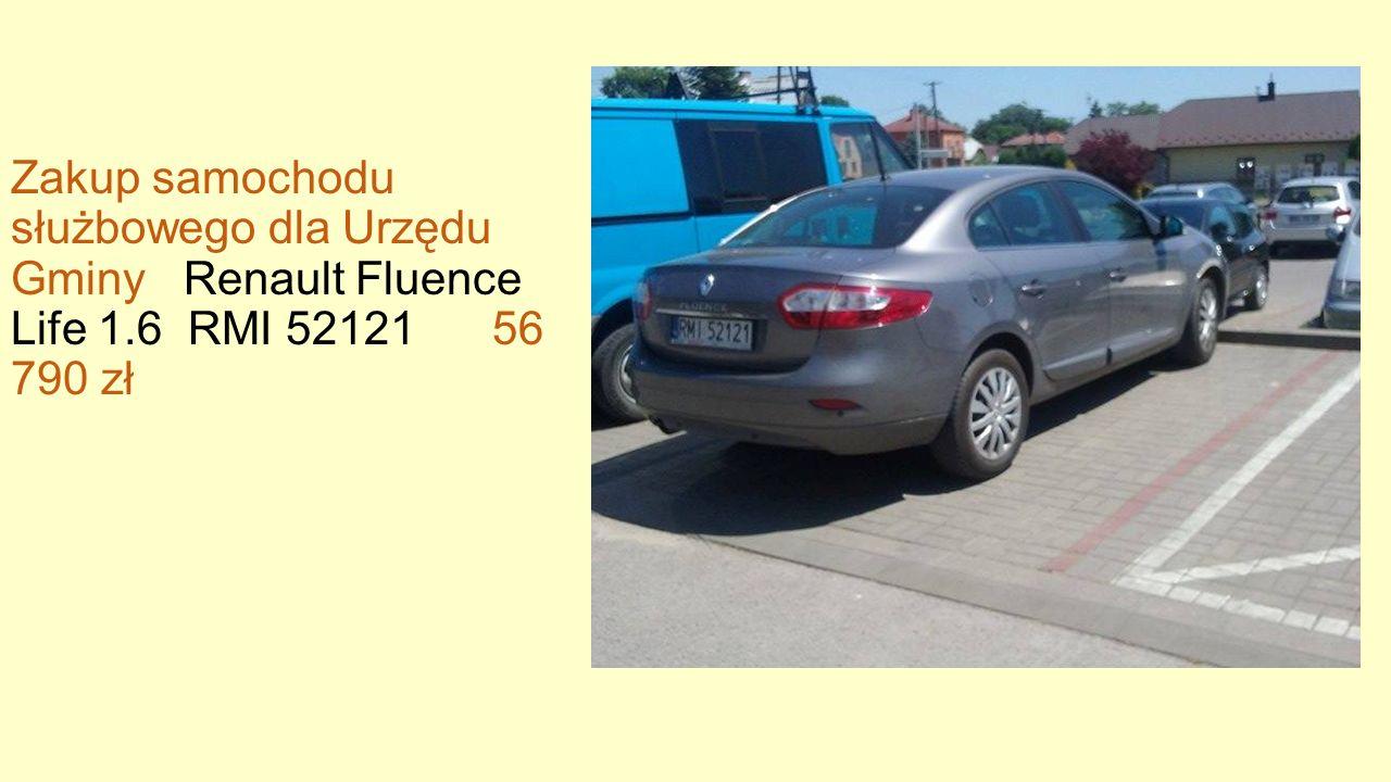 Zakup samochodu służbowego dla Urzędu Gminy Renault Fluence Life 1.6 RMI 52121 56 790 zł