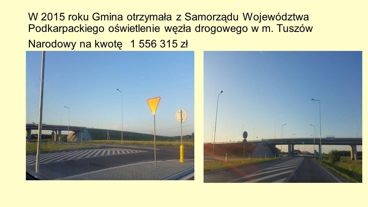 W 2015 roku Gmina otrzymała z Samorządu Województwa Podkarpackiego oświetlenie węzła drogowego w m.