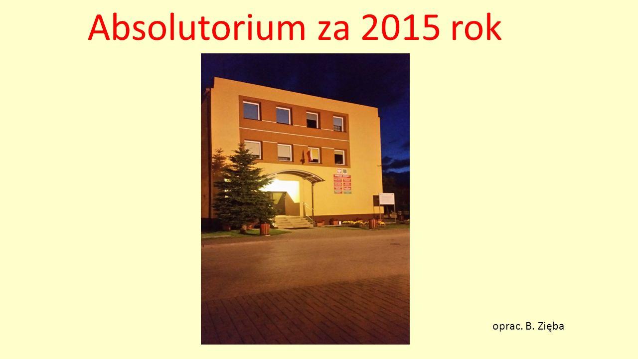 Absolutorium za 2015 rok oprac. B. Zięba