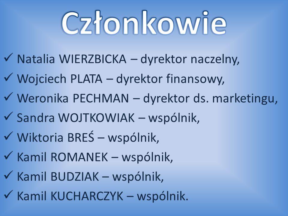 Natalia WIERZBICKA – dyrektor naczelny, Wojciech PLATA – dyrektor finansowy, Weronika PECHMAN – dyrektor ds. marketingu, Sandra WOJTKOWIAK – wspólnik,