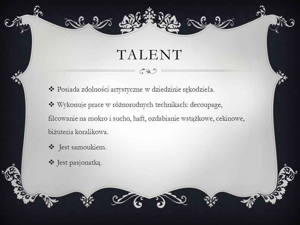 """SUKCESY """"W czasach ery komputerów, iphonów, tabletów, kiedy młodzież stawia na markę i wygodę, zajmowanie się z pasją rękodziełem – trochę nie modnym, zbyt wymagającym cierpliwości i umiejętności, jest sukcesem zasługującym na uznanie i podium. Lidia Kycko nauczyciel zajęć technicznych"""