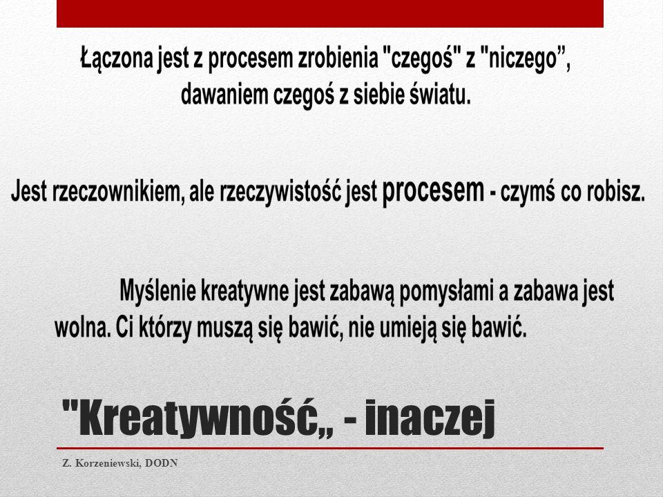 """Kreatywność"""" - inaczej Z. Korzeniewski, DODN"""