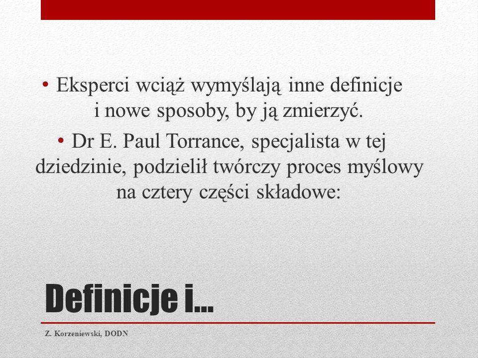 Myślenie kreatywne Z. Korzeniewski, DODN