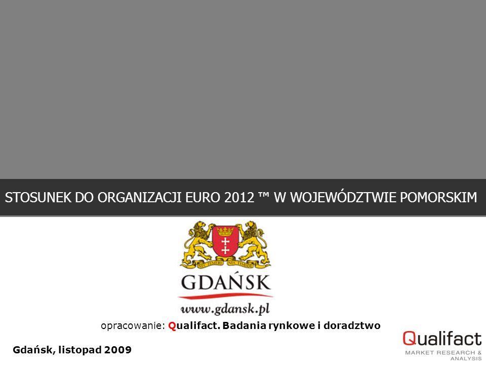 Gdańsk, listopad 2009 STOSUNEK DO ORGANIZACJI EURO 2012 ™ W WOJEWÓDZTWIE POMORSKIM opracowanie: Qualifact.