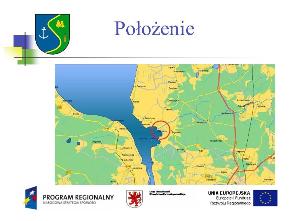 Charakterystyka Gminy Powiat Goleniowski Powierzchnia 294 km² 39,8% to wody 32% lasy 30,2% grunty rolne Liczba mieszkańców 4825 Gęstość zaludnienia 16 os/km² 16 sołectw 19 miejscowości