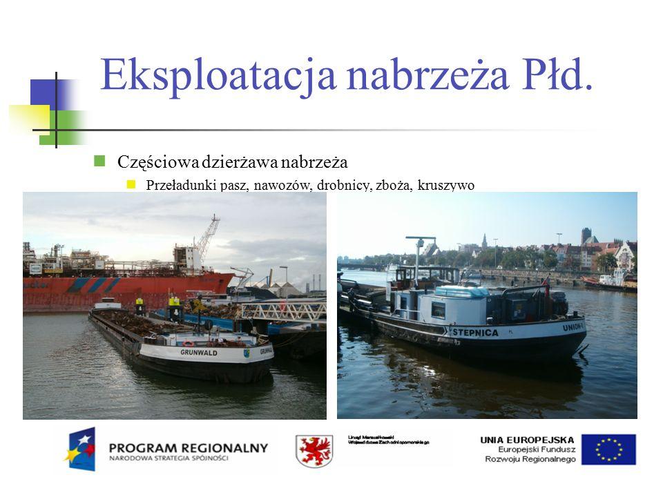Eksploatacja nabrzeża Płd.