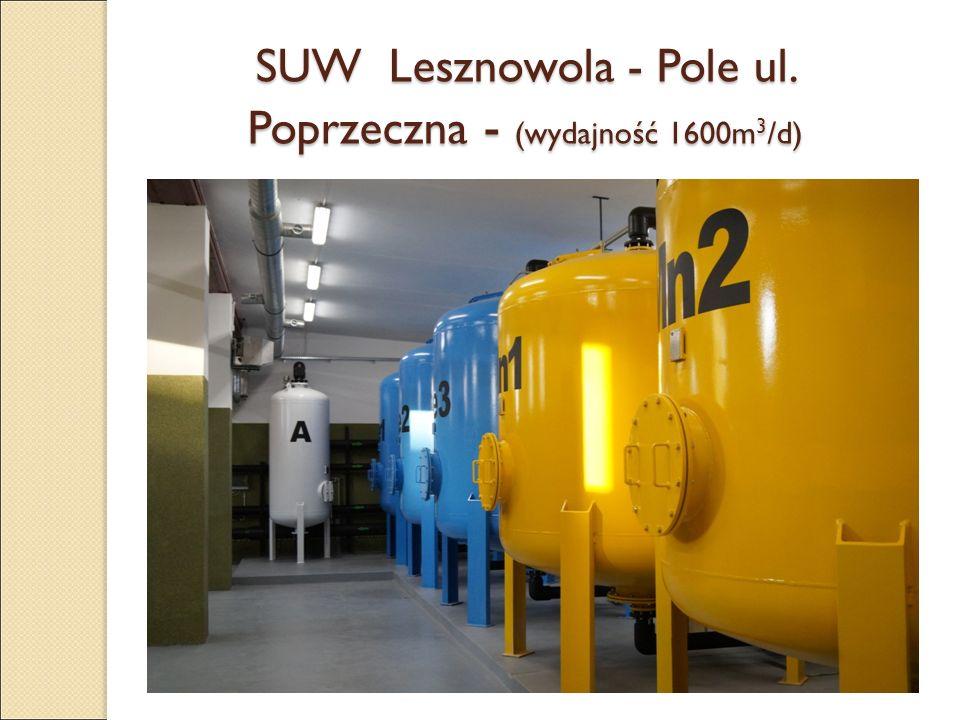 SUW Lesznowola - Pole ul. Poprzeczna - (wydajność 1600m 3 /d)