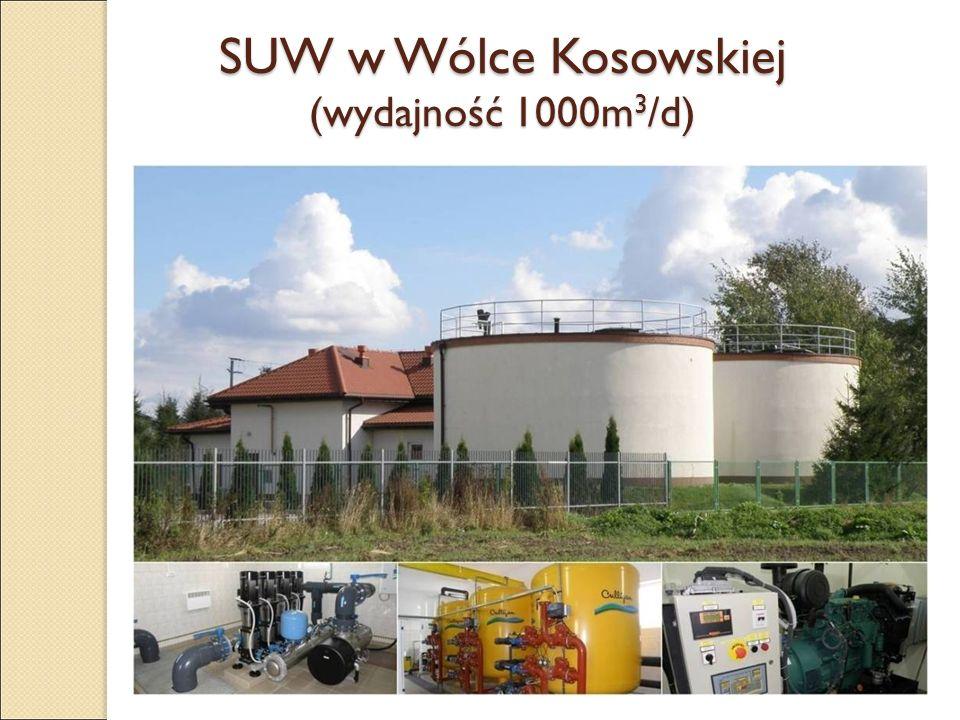 SUW w Wólce Kosowskiej (wydajność 1000m 3 /d)