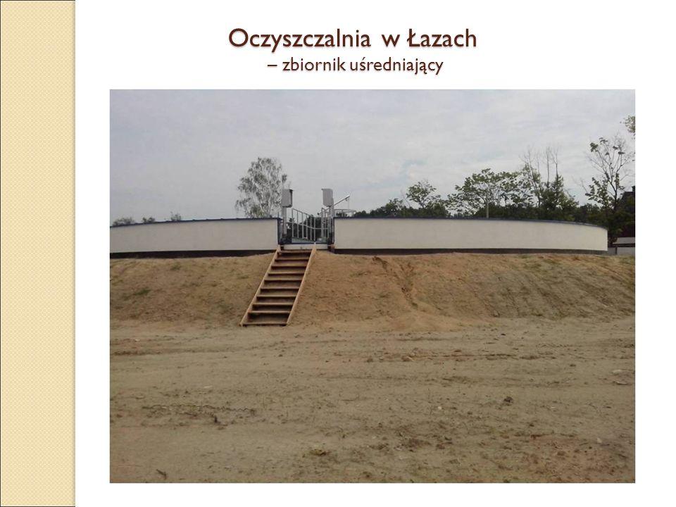 Oczyszczalnia w Łazach – zbiornik uśredniający