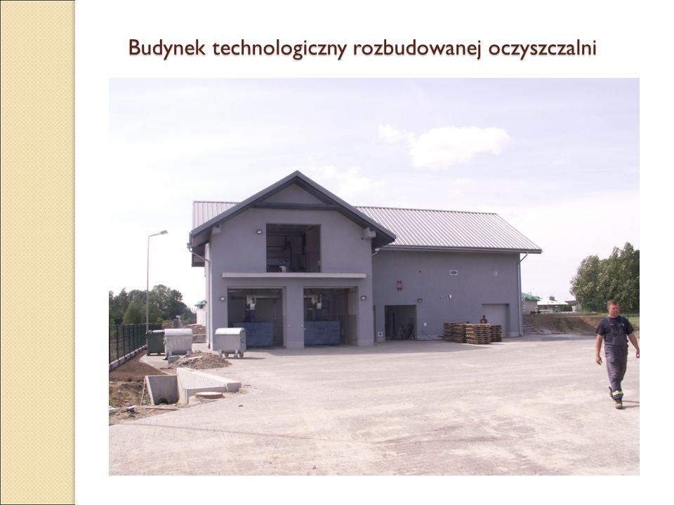 Budynek technologiczny rozbudowanej oczyszczalni