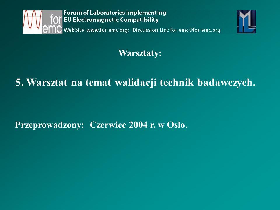 5. Warsztat na temat walidacji technik badawczych.