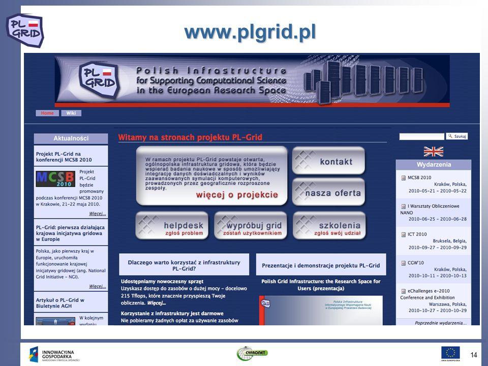www.plgrid.pl 14