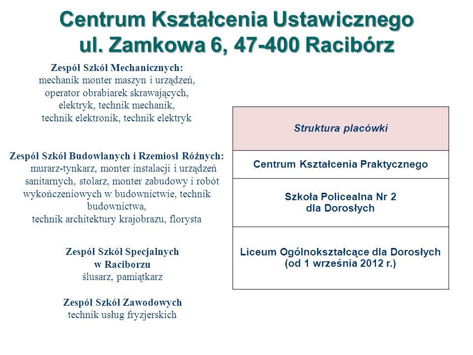 Ogólne zasady rekrutacji do szkół ponadgimnazjalnych reguluje Decyzja Śląskiego Kuratora Oświaty Nr STKZ.