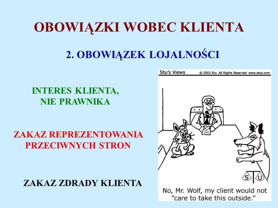 OBOWIĄZKI WOBEC KLIENTA 2.
