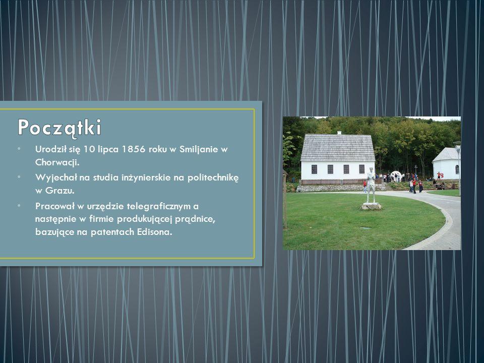Urodził się 10 lipca 1856 roku w Smiljanie w Chorwacji. Wyjechał na studia inżynierskie na politechnikę w Grazu. Pracował w urzędzie telegraficznym a