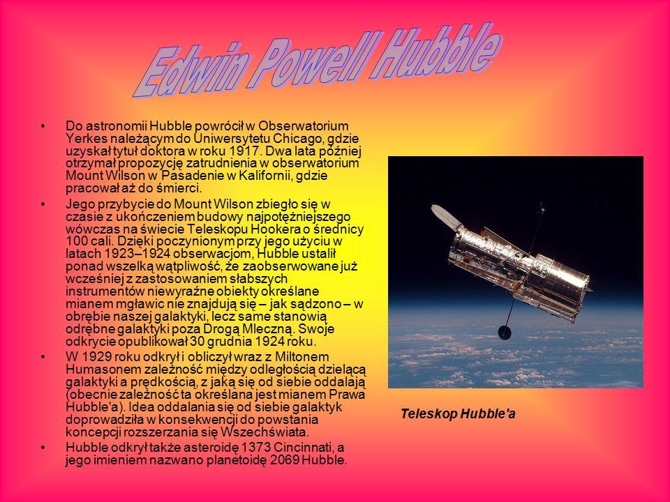 Do astronomii Hubble powrócił w Obserwatorium Yerkes należącym do Uniwersytetu Chicago, gdzie uzyskał tytuł doktora w roku 1917.
