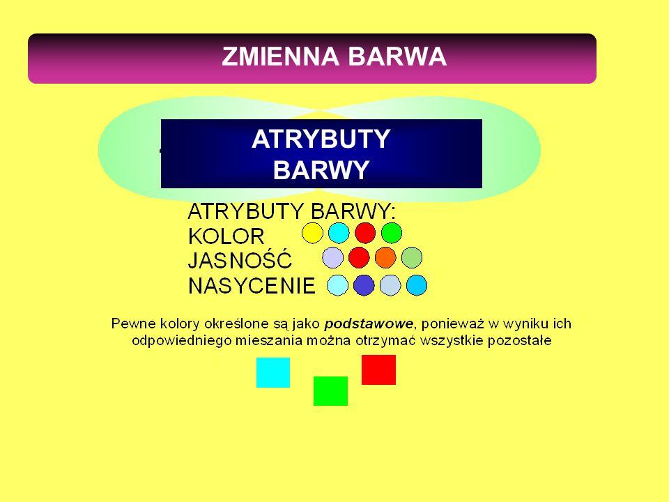 ZMIENNA BARWA ATRYBUTY BARWY