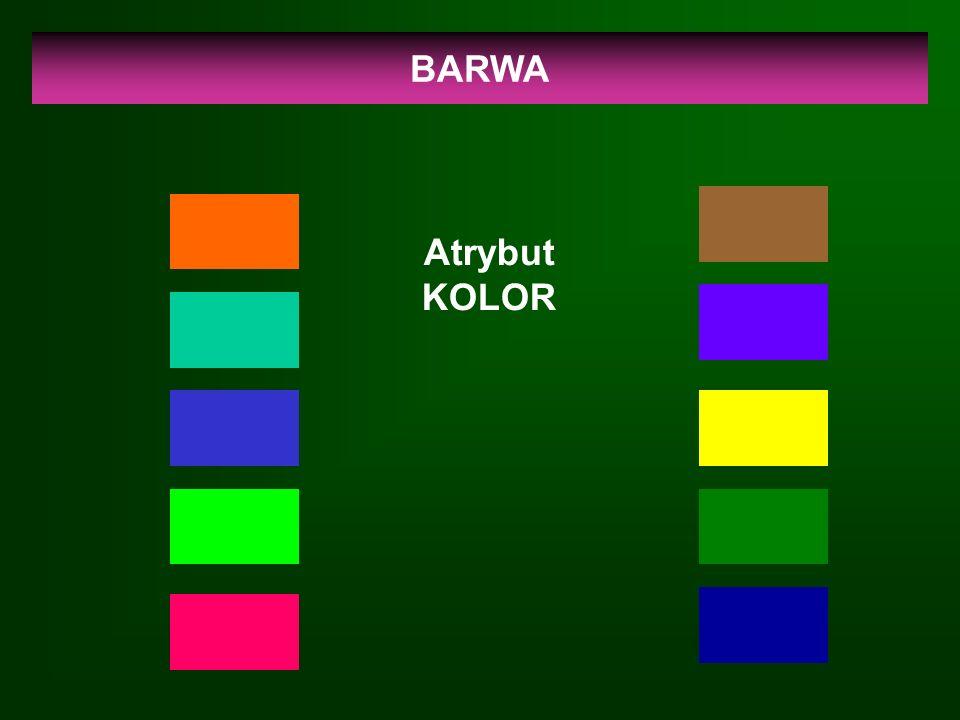 BARWA Atrybut KOLOR