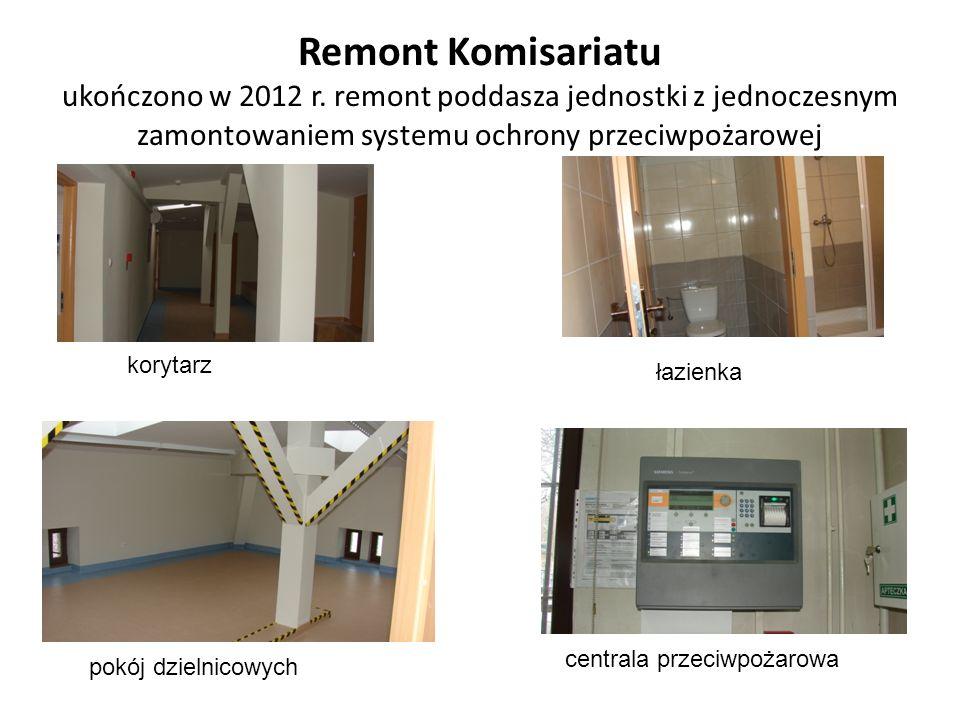 Remont Komisariatu ukończono w 2012 r.