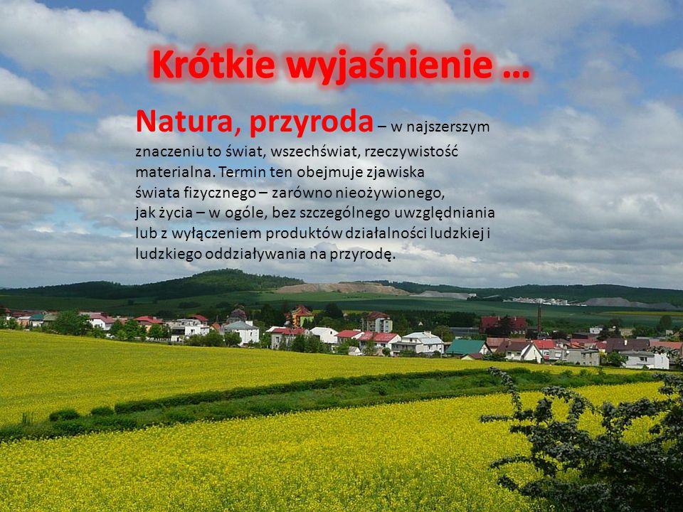 Natura, przyroda – w najszerszym znaczeniu to świat, wszechświat, rzeczywistość materialna.