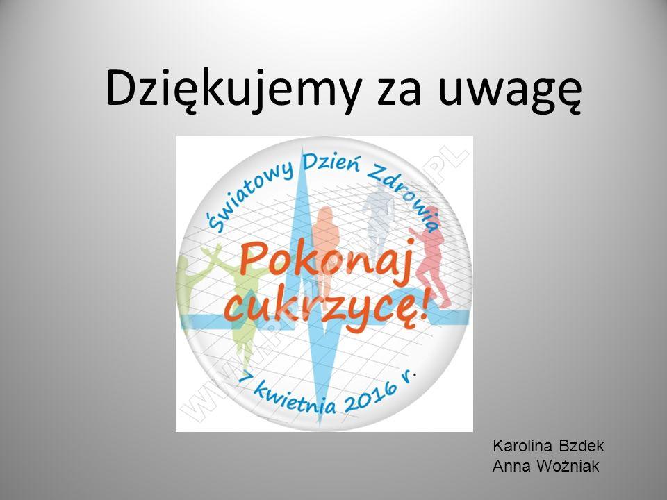 Dziękujemy za uwagę Karolina Bzdek Anna Woźniak