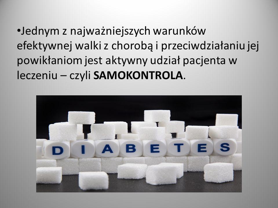 Jedną z podstawowych metod samokontroli jest badanie poziomu stężenia glukozy we krwi.