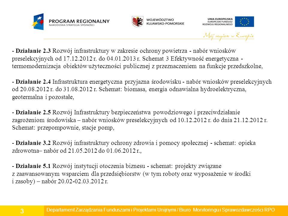 3 - Działanie 2.3 Rozwój infrastruktury w zakresie ochrony powietrza - nabór wniosków preselekcyjnych od 17.12.2012 r.