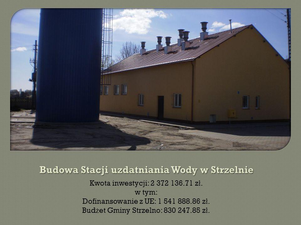 Kwota inwestycji: 2 372 136.71 z ł. w tym: Dofinansowanie z UE: 1 541 888.86 z ł.