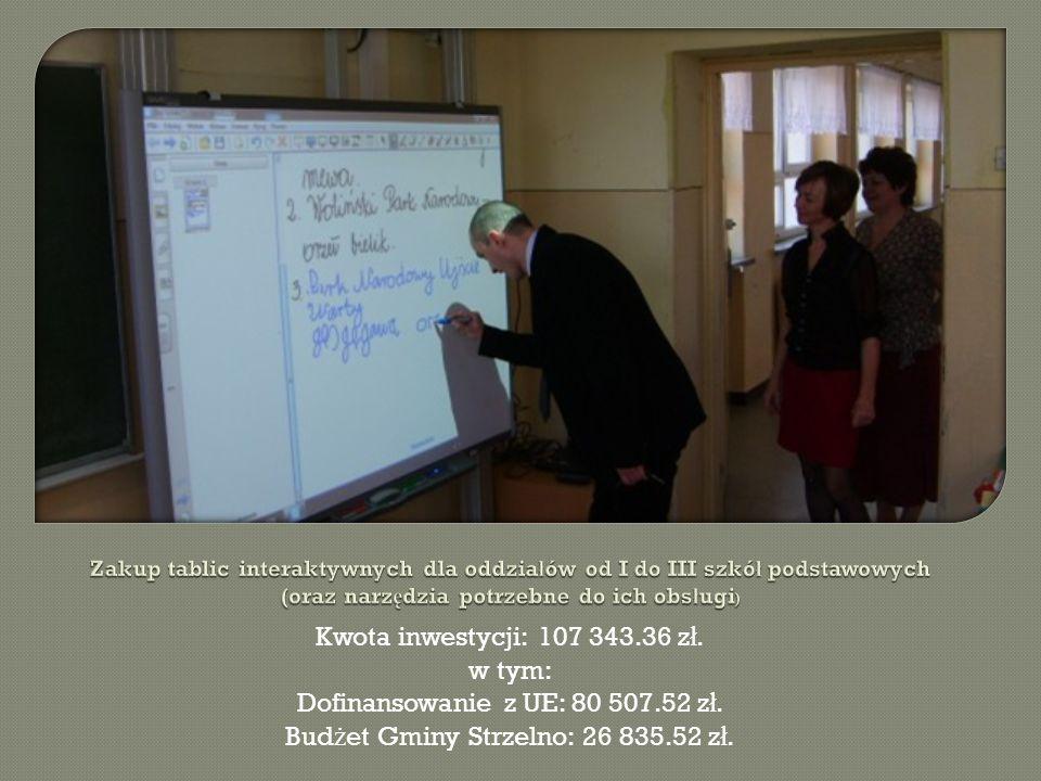 Kwota inwestycji: 405 663.77 z ł.w tym: Dofinansowanie z UE: 247 368.00 z ł.