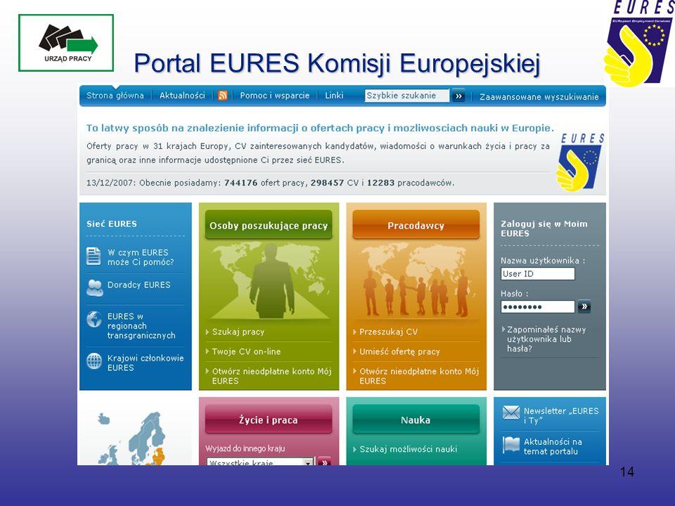 14 Portal EURES Komisji Europejskiej