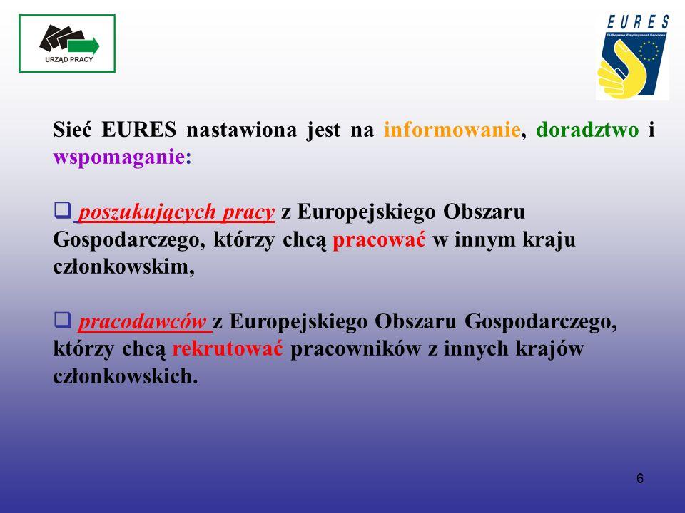 7 Znak ten może być używany przez członków i partnerów EURES wyłącznie w związku z działaniami prowadzonymi w ramach EURES Znak EURES