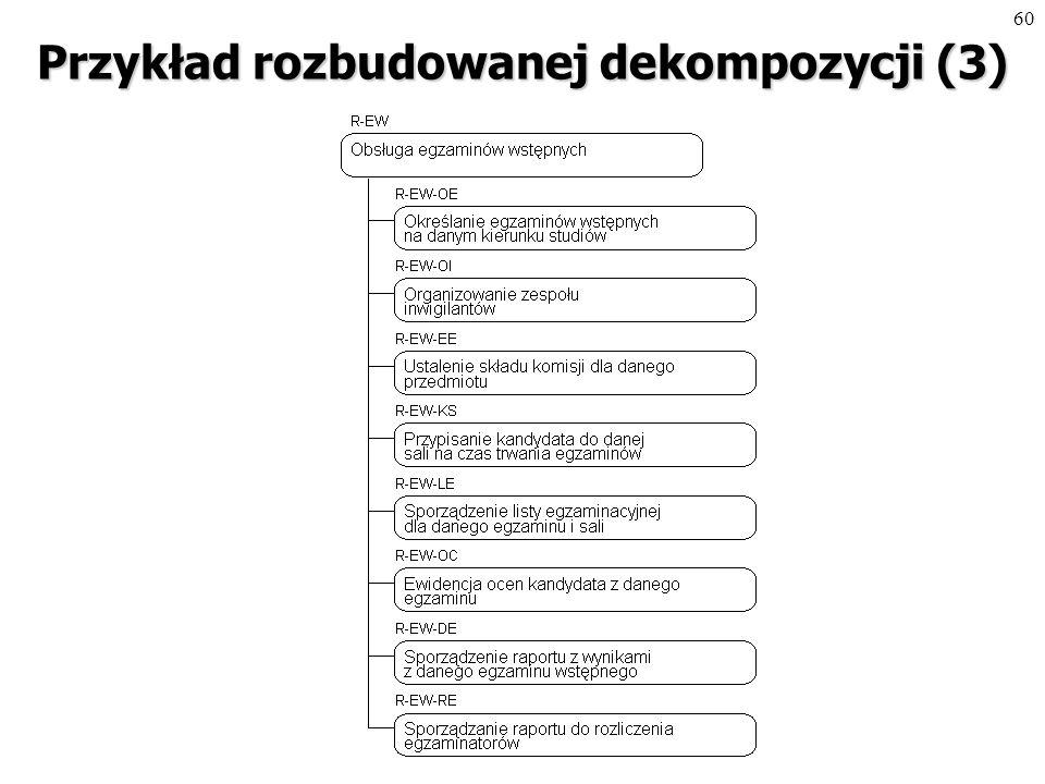 59 Przykład rozbudowanej dekompozycji (2)