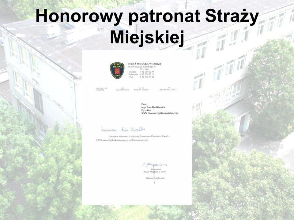Honorowy patronat Straży Miejskiej