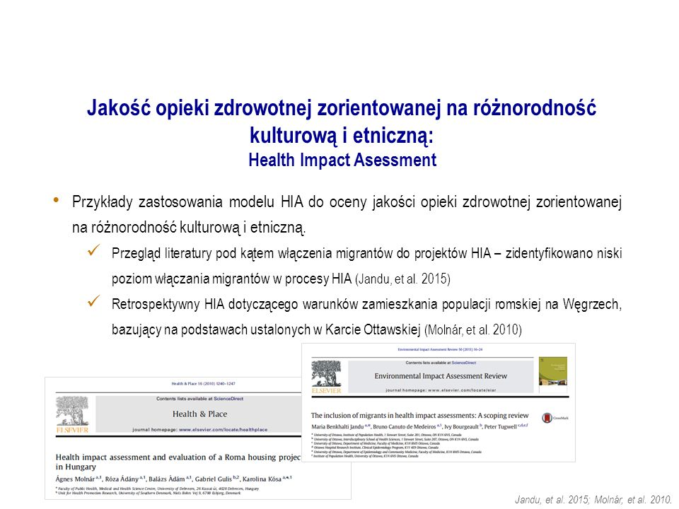 Jandu, et al.2015; Molnár, et al. 2010.