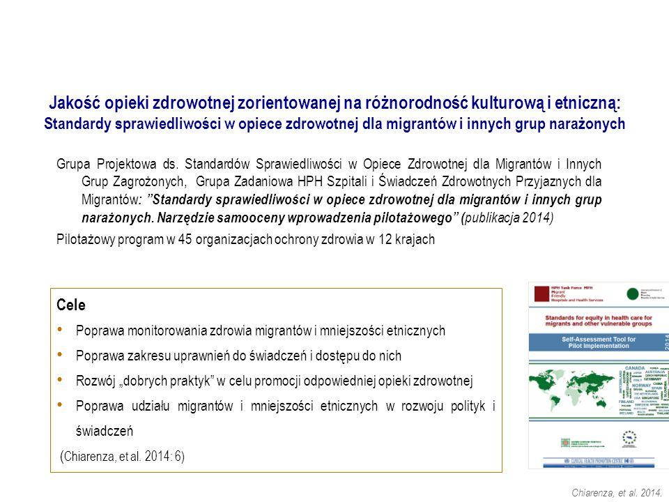 . Chiarenza, et al. 2014. Grupa Projektowa ds. Standardów Sprawiedliwości w Opiece Zdrowotnej dla Migrantów i Innych Grup Zagrożonych, Grupa Zadaniowa