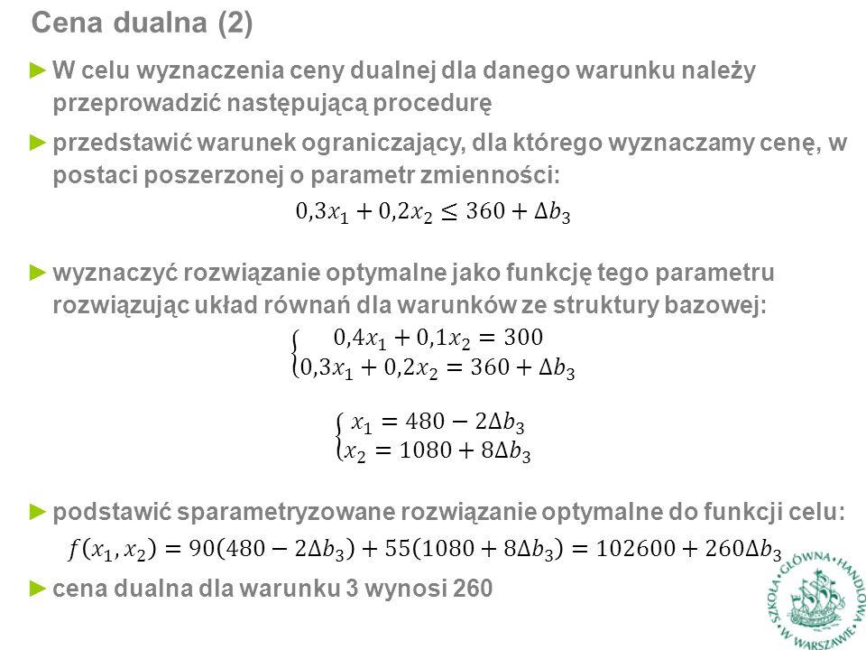 Cena dualna (2)
