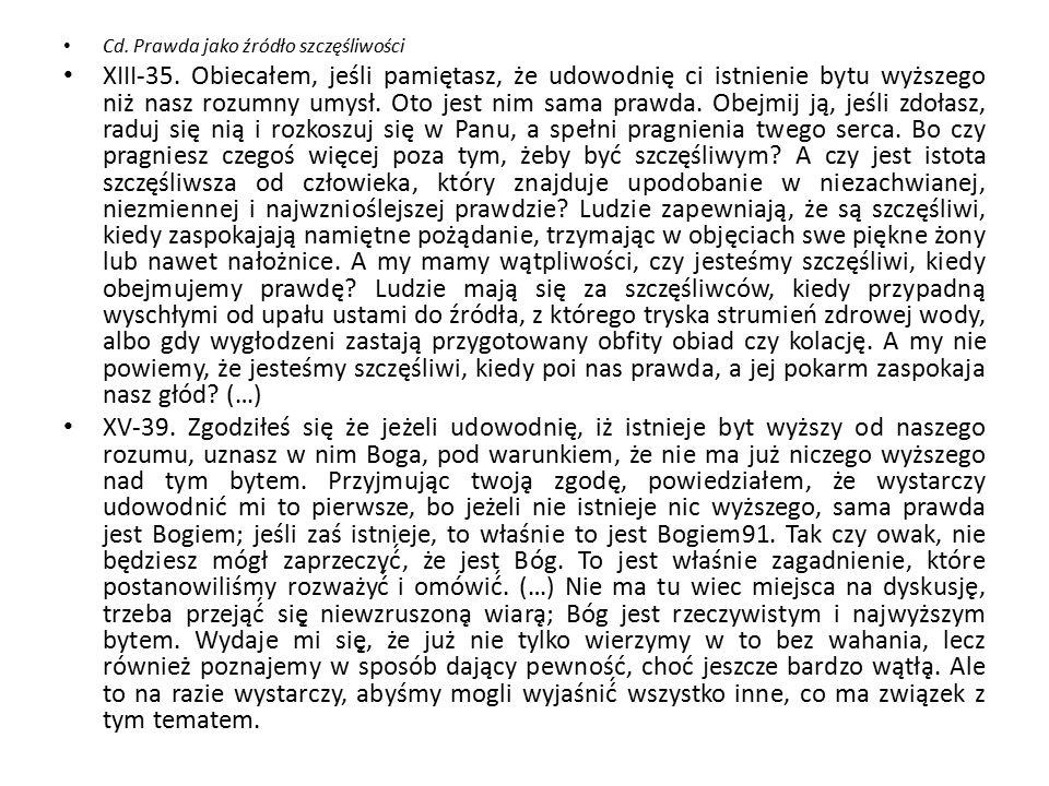Cd. Prawda jako źródło szczęśliwości XIII-35.